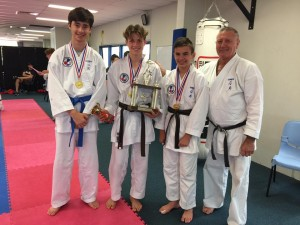 Junior boys open kumite